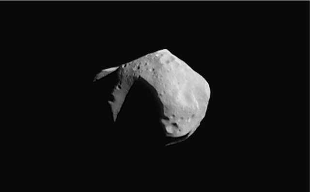 No, this isn't Apophis. I'm not sure if anyone's even imaged it. This is 253 Mathilde, an asteroid which I might have an amusing anecdote about...