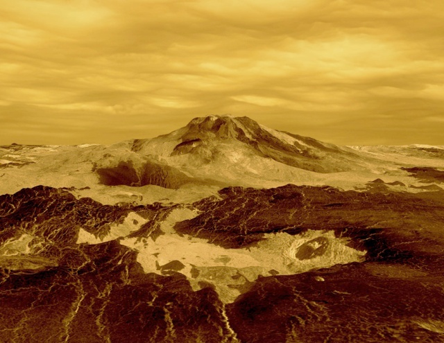 Maat Mons, Venus. I bet it's beautifully scenic in real life...