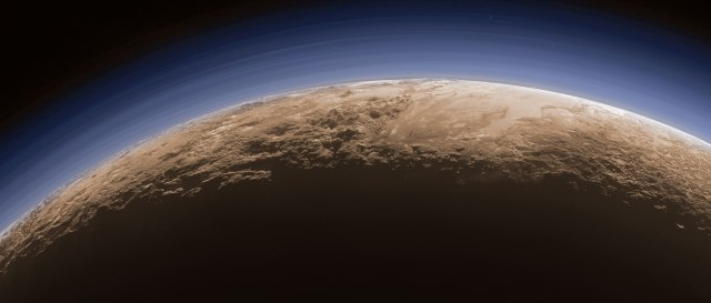 Actually, given how little sunlight makes it out that far, Pluto is permanently a twilight world...