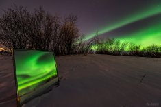 """Aurora tonight in #Kiruna I had an idea and I ran with it! :)"""