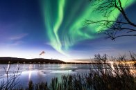 """""""Another shot of the crazy aurora at twilight the other day. 💚"""""""