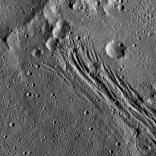 Ceres has stretch marks, and they're part of why she's beautiful. These canyons are thought to have been caused by extensional stresses pulling the surface of Ceres apart. They appear newer than some of the craters in the region.