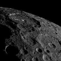 A gorgeous shot of Occator crater against the limb of Ceres.
